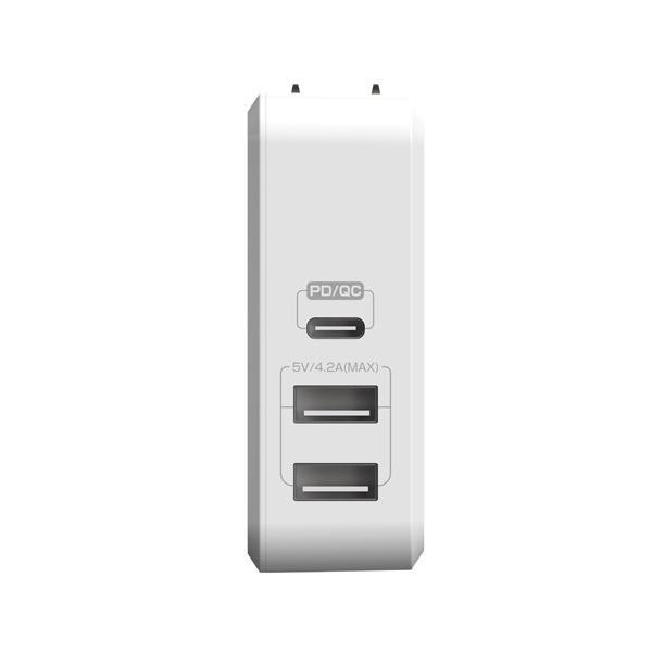 【公式ストア】NUARL 41W USB-C Power Delivery MacBook/MateBook急速充電/USB-A iPad/IQOS対応2.1A/海外電源対応アダプター ※延長保証+6ヶ月付|nuarl|02
