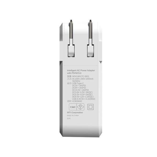 【公式ストア】NUARL 41W USB-C Power Delivery MacBook/MateBook急速充電/USB-A iPad/IQOS対応2.1A/海外電源対応アダプター ※延長保証+6ヶ月付|nuarl|03
