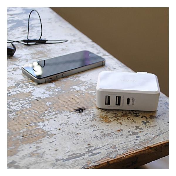 【公式ストア】NUARL 41W USB-C Power Delivery MacBook/MateBook急速充電/USB-A iPad/IQOS対応2.1A/海外電源対応アダプター ※延長保証+6ヶ月付|nuarl|04