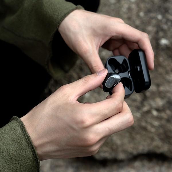 【公式ストア】NUARL NT01 Bluetooth5/完全ワイヤレス/IPX4耐水/5h連続再生/マイク付/軽量5g/ステレオイヤホン【ブラックシルバー】|nuarl|07