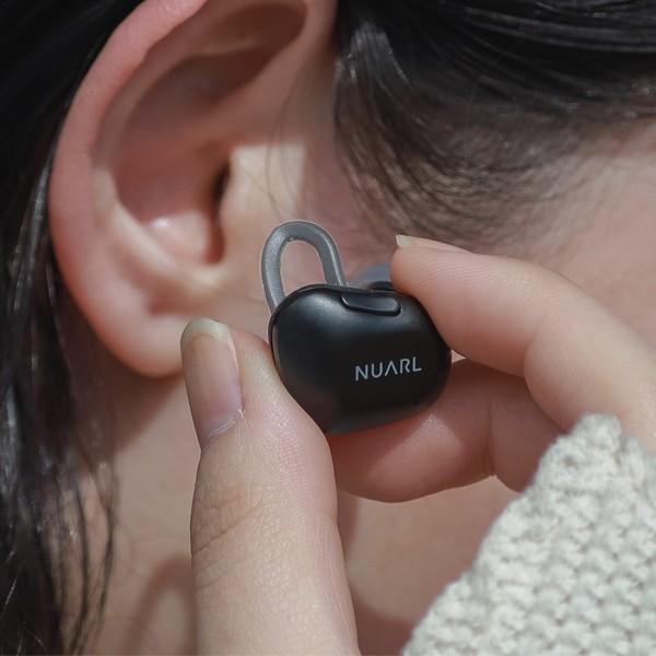 【公式ストア】NUARL NT01 Bluetooth5/完全ワイヤレス/IPX4耐水/5h再生/マイク付/軽量5g/左右独立ステレオイヤホン(マットブラック)※延長保証+6ヶ月付|nuarl|06