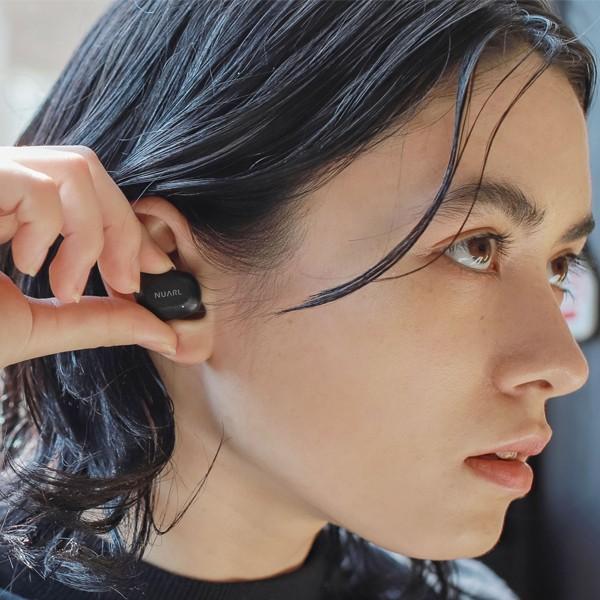 【公式ストア】NUARL NT01 Bluetooth5/完全ワイヤレス/IPX4耐水/5h再生/マイク付/軽量5g/左右独立ステレオイヤホン(マットブラック)※延長保証+6ヶ月付|nuarl|09