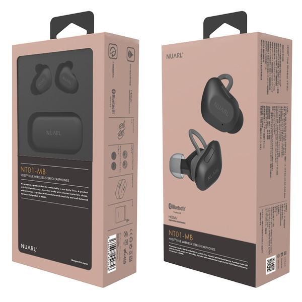 【公式ストア】NUARL NT01 Bluetooth5/完全ワイヤレス/IPX4耐水/5h再生/マイク付/軽量5g/左右独立ステレオイヤホン(マットブラック)※延長保証+6ヶ月付|nuarl|10
