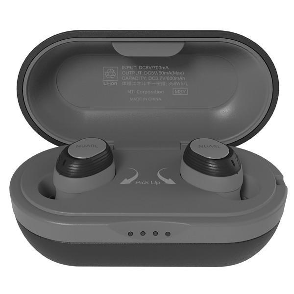 【公式ストア】NUARL NT100 IPX7防水/4h再生/マイク付/軽量4g//Bluetooth5/左右独立ステレオ/完全ワイヤレスイヤホン(ブラック)※延長保証+6ヶ月付|nuarl|03