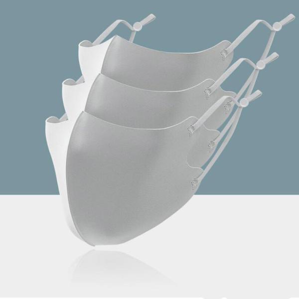即納 アイスマスク 夏用 接触冷感マスク 3枚セット コーティング 洗える 涼感 涼しい ひんやりウィルス対策 飛沫感染対策 国内発送 紐調節 numbers 14