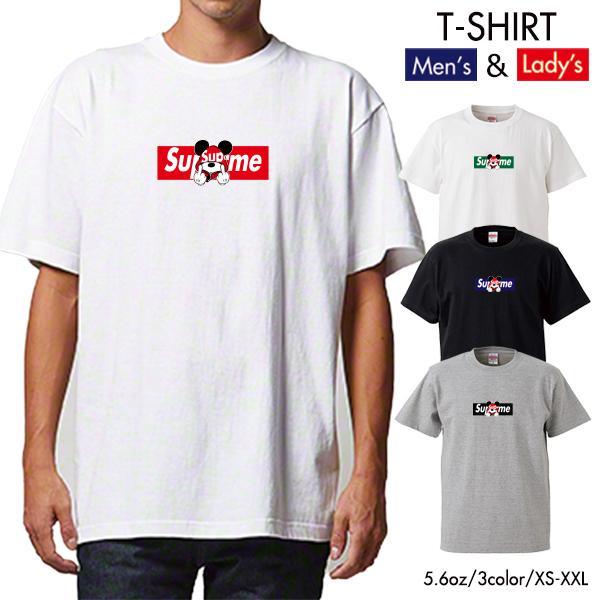 ストリート大人気ブランドTシャツ 大人気 ボックスロゴ ねずみっきー FUCK BOXロゴ オシャレ トレンド モード numbers