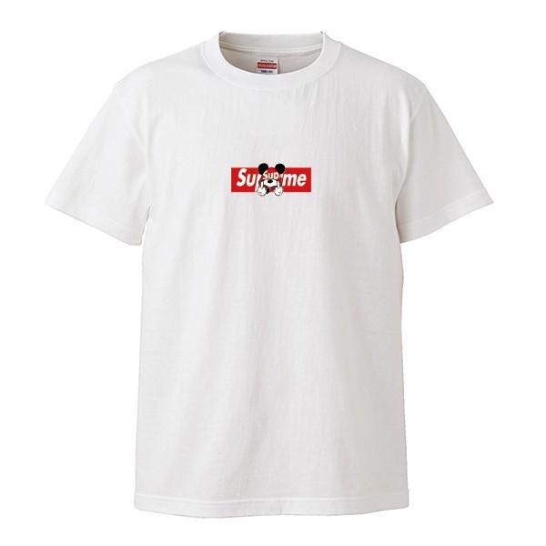 ストリート大人気ブランドTシャツ 大人気 ボックスロゴ ねずみっきー FUCK BOXロゴ オシャレ トレンド モード numbers 02