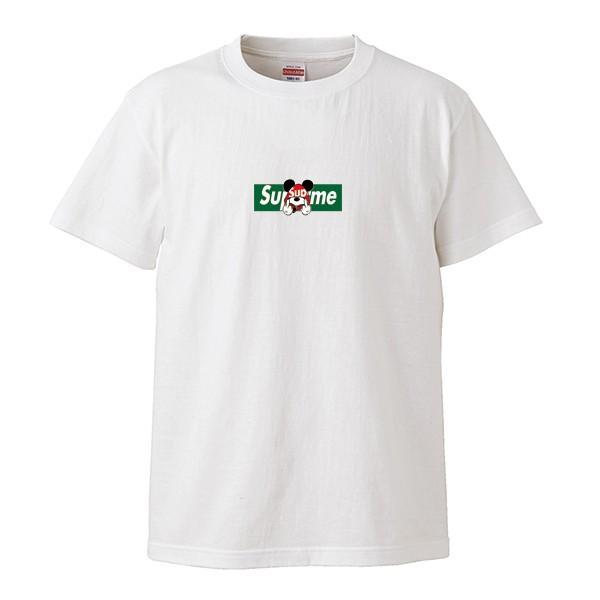 ストリート大人気ブランドTシャツ 大人気 ボックスロゴ ねずみっきー FUCK BOXロゴ オシャレ トレンド モード numbers 11