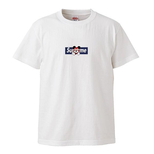 ストリート大人気ブランドTシャツ 大人気 ボックスロゴ ねずみっきー FUCK BOXロゴ オシャレ トレンド モード numbers 08