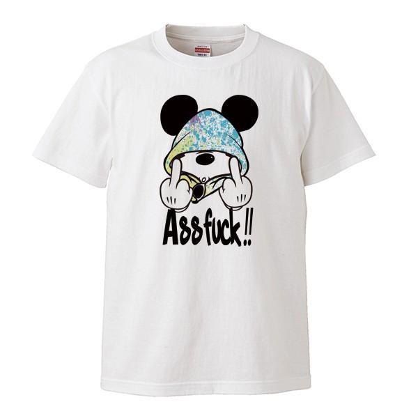 ストリート大人気 ブランド Tシャツ ass FUCK Mouse ファック ネズミッキー パロディ おもしろ デザイン 可愛い ユニセックス 男女共有 numbers 02