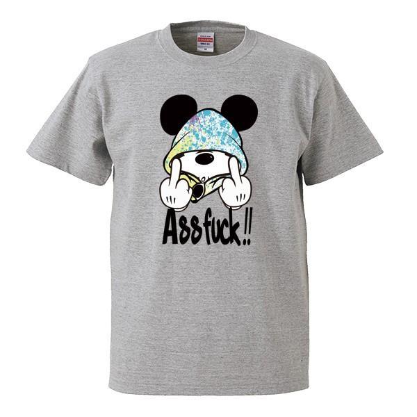 ストリート大人気 ブランド Tシャツ ass FUCK Mouse ファック ネズミッキー パロディ おもしろ デザイン 可愛い ユニセックス 男女共有 numbers 04