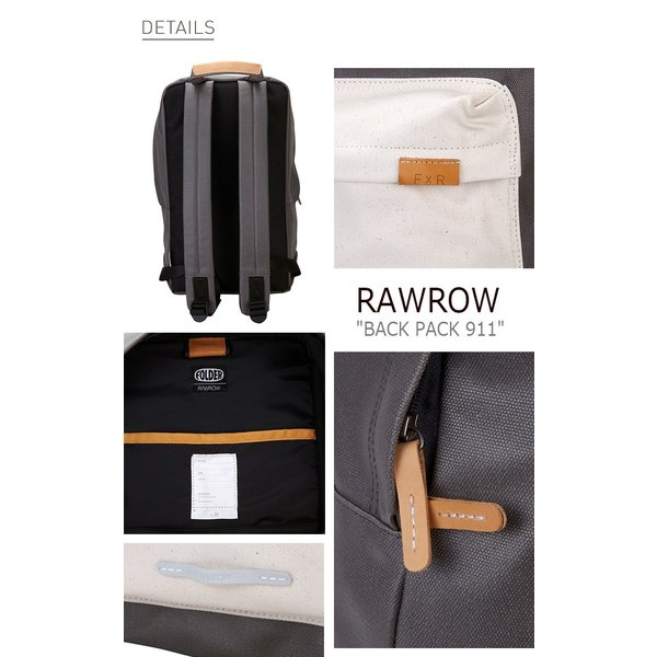 """ロウロウ バッグ RawRow メンズ レディース BACK PACK 911 RUGGED 15"""" バックパック911 ラギッド 15"""" Black White Beige Gray WhiteBlack 全5色 リュック"""