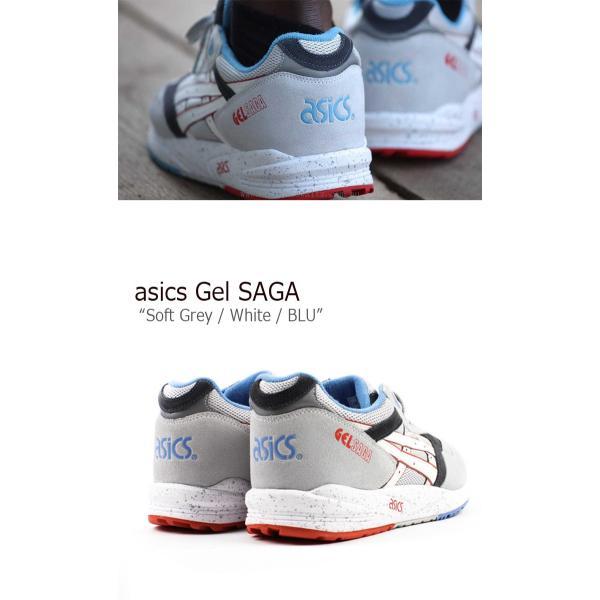 asics GEL SAGA Soft Grey White BLU H434N-1001 アシックスタイガー シューズ スニーカー シューズ|nuna-ys|04