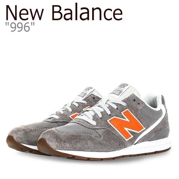 54a56bfa4b36a ニューバランス 996 スニーカー New Balance メンズ レディース ニューバランス996 GRAY ORANGE グレー オレンジ  MRL996JD シューズの