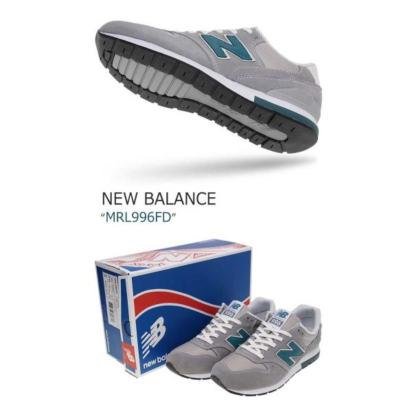New Balance 996 Steel Grey Light Blue ニューバランス MRL996FD シューズ スニーカー シューズ|nuna-ys|03
