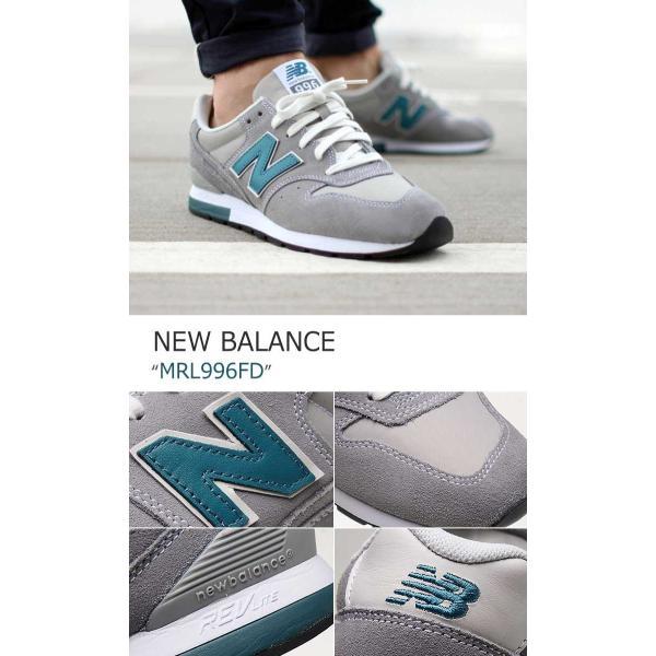 New Balance 996 Steel Grey Light Blue ニューバランス MRL996FD シューズ スニーカー シューズ|nuna-ys|04