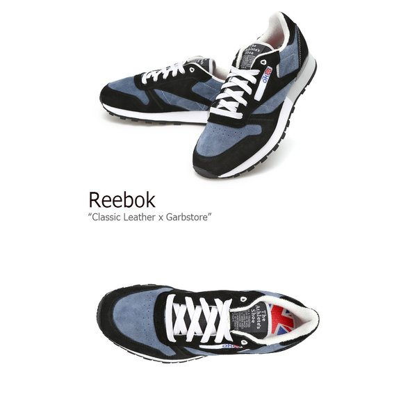 Reebok Classic Leather x Garbstore Midnight Blue Black White リーボック クラシック レザー x ガーブストア AR2617 シューズ スニーカー シューズ|nuna-ys|02