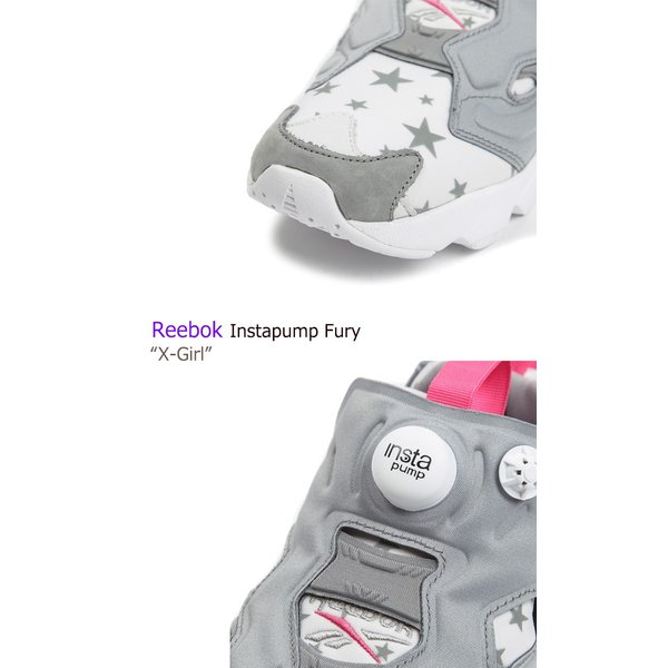 Reebok INSTAPUMP FURY X-Girl Exclusive White Pink リーボック ポンプフューリー 限定商品 星柄 AR3800 シューズ スニーカー シューズ|nuna-ys|03
