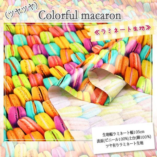 (ツヤツヤ)Colorful macaron≪ラミネート生地≫  ツヤ有りラミネート生地 ( ポーチ 撥水 ハンドメイド クロス  ) 50cm単位|nuno1000netshop|02