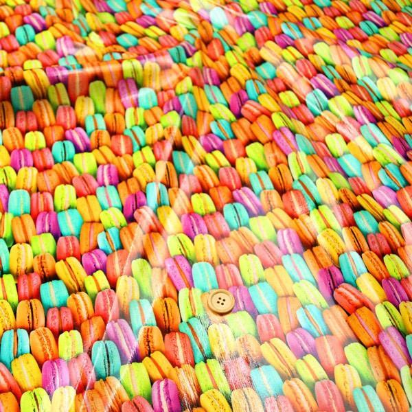 (ツヤツヤ)Colorful macaron≪ラミネート生地≫  ツヤ有りラミネート生地 ( ポーチ 撥水 ハンドメイド クロス  ) 50cm単位|nuno1000netshop|04