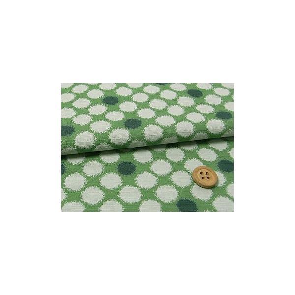 和柄コットン生地・かすり水玉(緑)|nunogatari