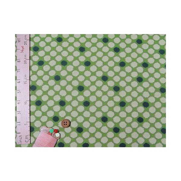和柄コットン生地・かすり水玉(緑)|nunogatari|04