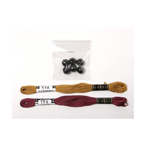 十二支のタペストリー用 刺しゅう糸&ウッドビーズセット|nunogatari