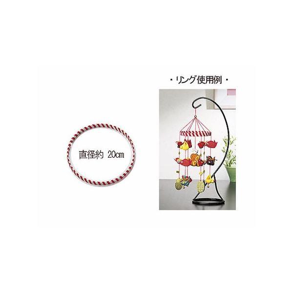 つるしびな用紅白リング 約20cm|nunogatari