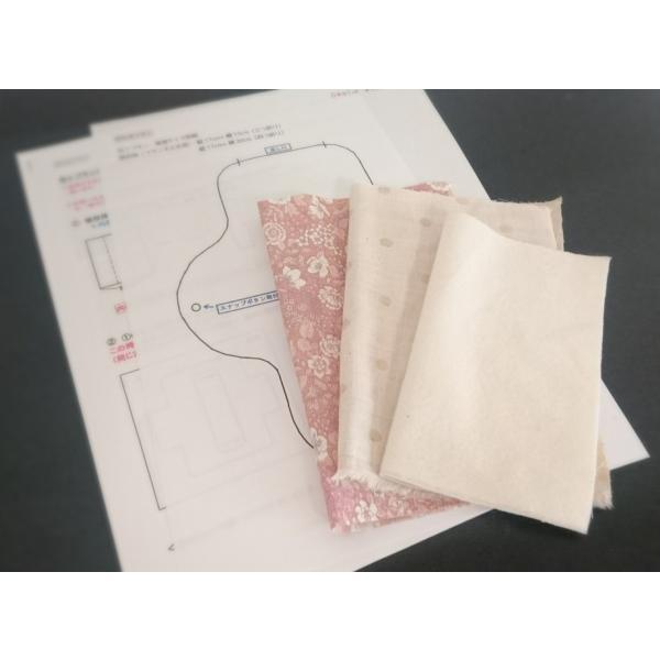 布ナプキン 手作りキット 作り方 型紙つき 普通サイズ 型紙 ハンドメイド|nunonapu-soala