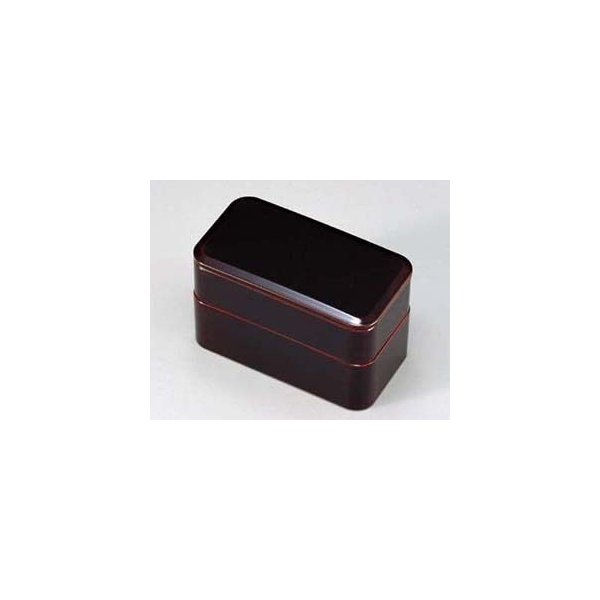 弁当箱 和食器 二段弁当 漆塗り 長角 越前漆器  溜内朱  越前塗り 木合 べんとう箱 うるし塗り 2段 ギフト