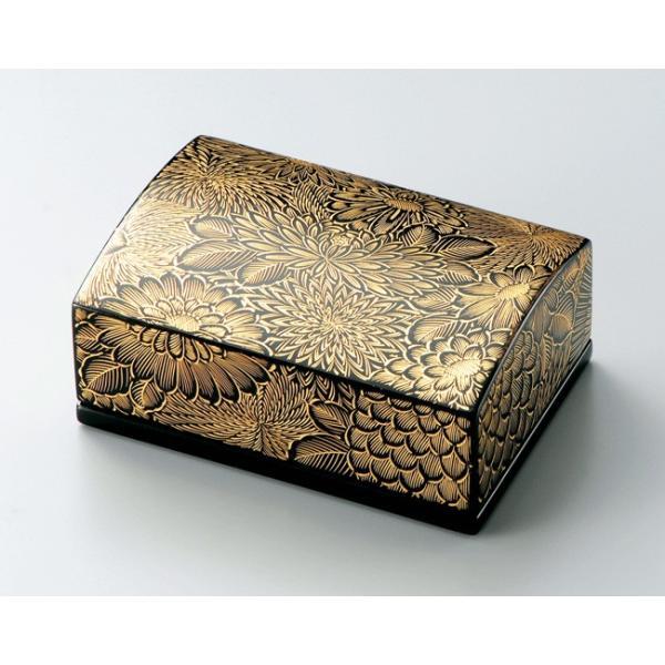 名刺箱 名刺入れ 父の日ギフト 越前漆器 沈金 菊彫 黒 漆塗り 越前塗り うるし塗り 小 木製 木箱入り