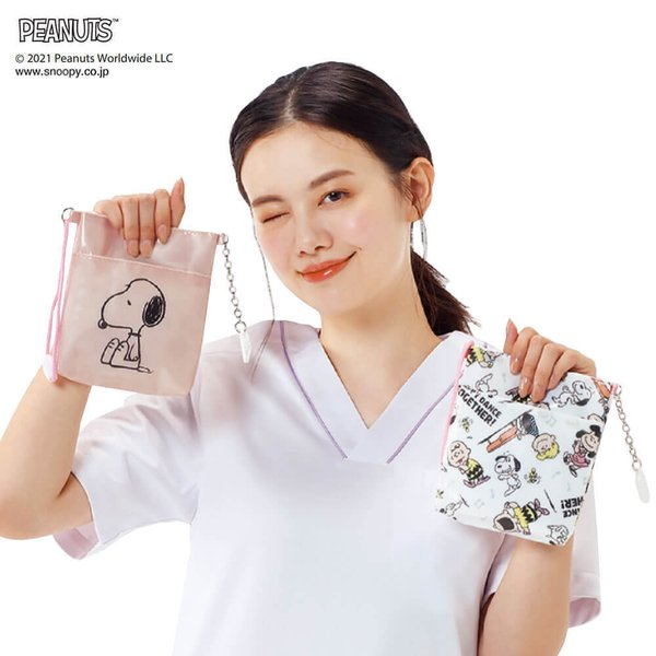ナース ペンケース バッグ 看護 医療 介護 スヌーピーマルチポーチ|nursery-y|02
