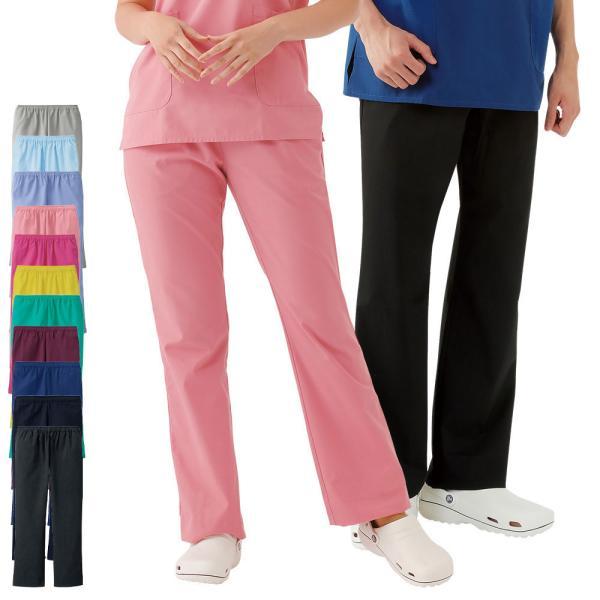 白衣 女性 男性 医療用 ナースウェア ナースリー美脚スクラブパンツ|nursery-y