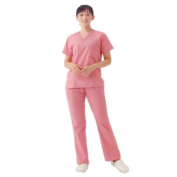 白衣 スクラブ 女性 男性  男女兼用 医療用 ドクター 医師 看護師 ナースリー美脚スクラブパンツ|nursery-y|02