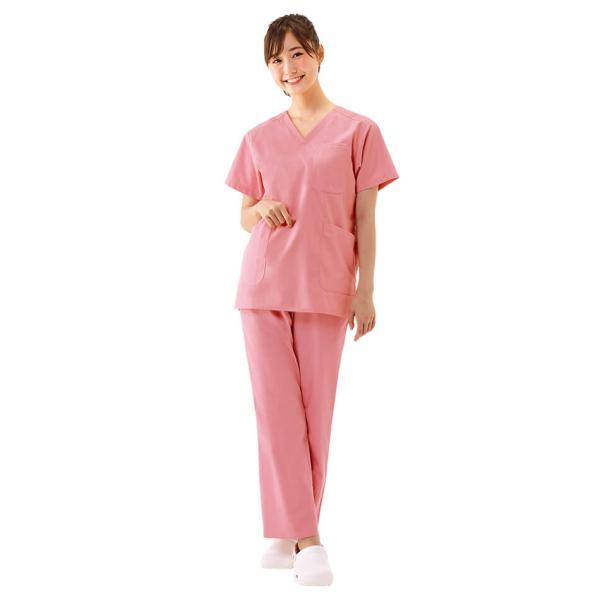 白衣 スクラブ 女性 男性  男女兼用 医療用 ドクター 医師 看護師 ナースリー美脚スクラブパンツ|nursery-y|04