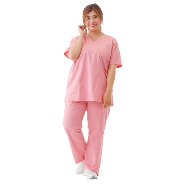 白衣 スクラブ 女性 男性  男女兼用 医療用 ドクター 医師 看護師 ナースリー美脚スクラブパンツ|nursery-y|05