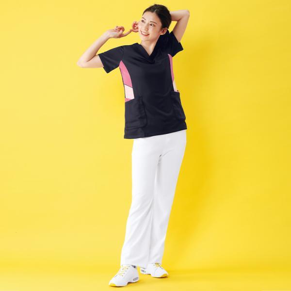 白衣 女性 医療用 ナースウェア 医師 看護師 イージーパンツ(SS/S/M/L/LL/3L/4L/5L)|nursery-y|03