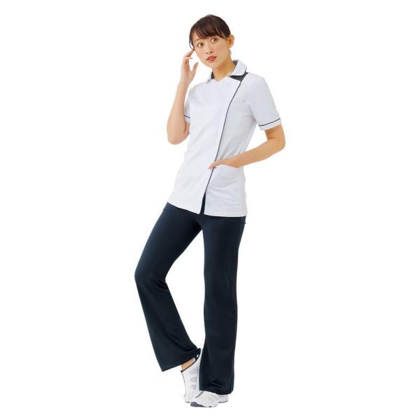 白衣 女性 医療用 ナースウェア 医師 看護師 イージーパンツ(SS/S/M/L/LL/3L/4L/5L)|nursery-y|05