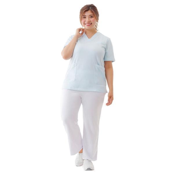 白衣 女性 医療用 ナースウェア 医師 看護師 イージーパンツ(SS/S/M/L/LL/3L/4L/5L)|nursery-y|06