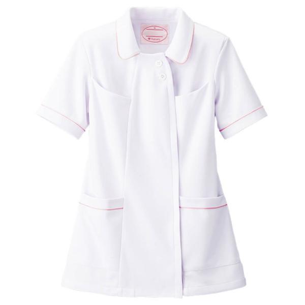 白衣 女性 ナースウェア オープンカラーパイピングジャケット(S/M/L/LL/3L/4L/5L)|nursery-y|05