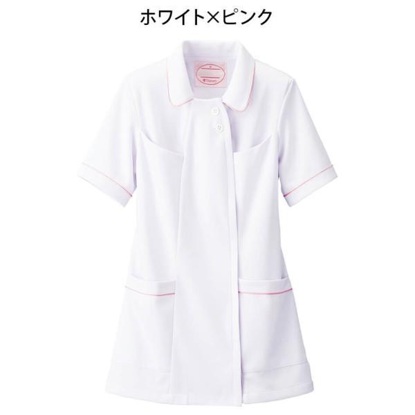 白衣 女性 ナースウェア オープンカラーパイピングジャケット(S/M/L/LL/3L/4L/5L)|nursery-y|06