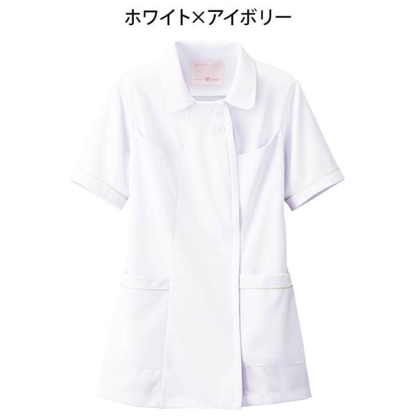 白衣 女性 ナースウェア オープンカラーパイピングジャケット(S/M/L/LL/3L/4L/5L)|nursery-y|08