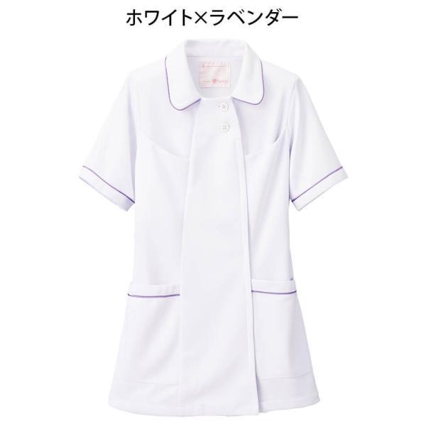 白衣 女性 ナースウェア オープンカラーパイピングジャケット(S/M/L/LL/3L/4L/5L)|nursery-y|09