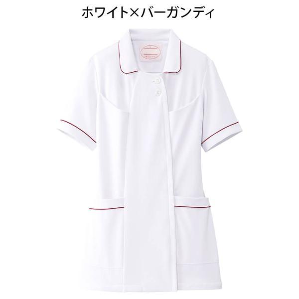 白衣 女性 ナースウェア オープンカラーパイピングジャケット(S/M/L/LL/3L/4L/5L)|nursery-y|10