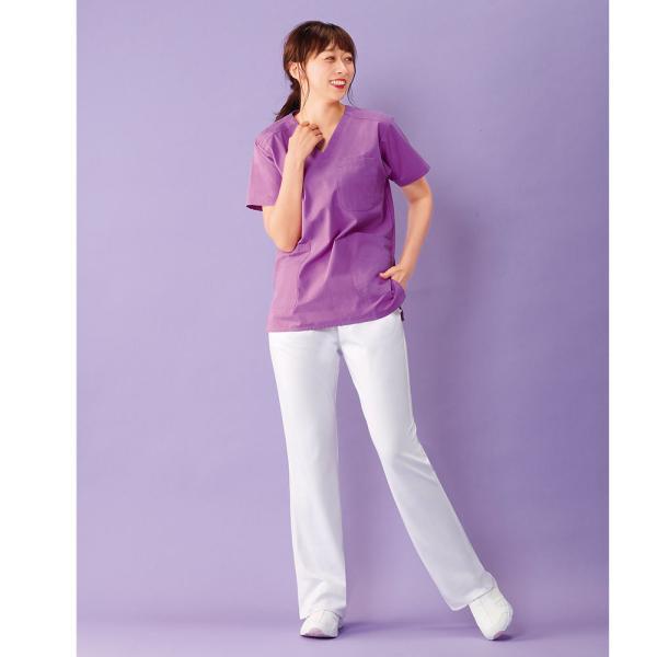白衣 スクラブ 女性 男性  男女兼用 医療用 半袖 ドクター 医師 看護師 ナースウェア ナースリースクラブ|nursery-y|07