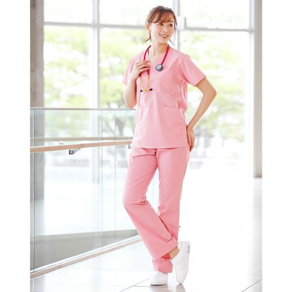 白衣 スクラブ 女性 男性  男女兼用 医療用 半袖 ドクター 医師 看護師 ナースウェア ナースリースクラブ|nursery-y|08