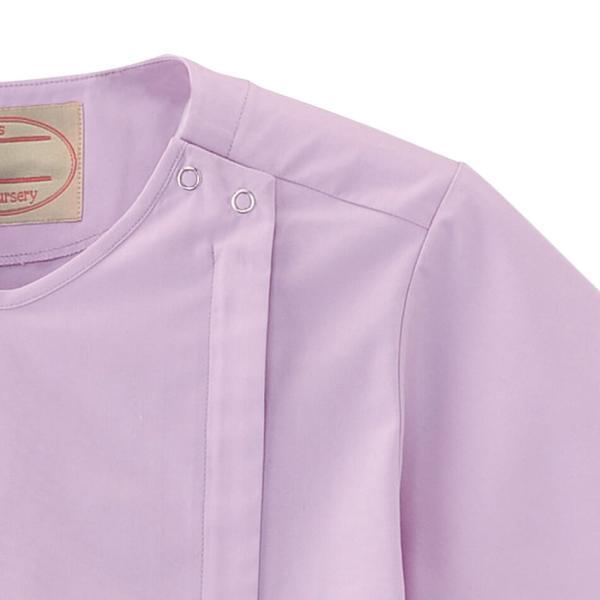 白衣 女性 ナースウェア 医療用 ナースリー着脱かんたんスクラブ|nursery-y|03