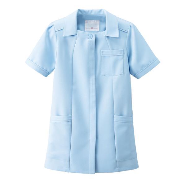 白衣 女性 看護師 ストレスフリー・ラックス パイピングジャケット 病院|nursery-y