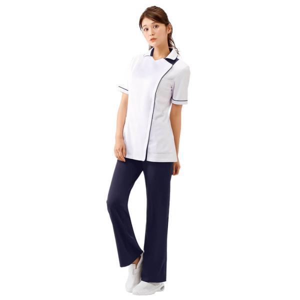 白衣 女性 病院 クリニック 看護師 介護 ライトジャケット nursery-y 02