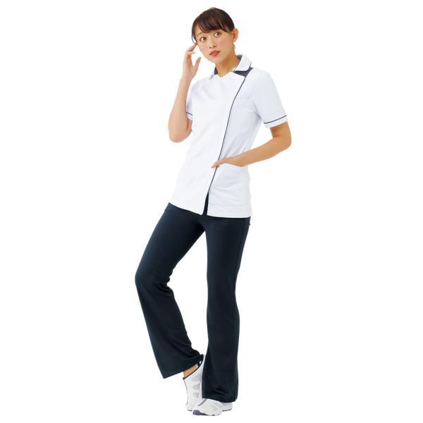 白衣 女性 病院 クリニック 看護師 介護 ライトジャケット nursery-y 04